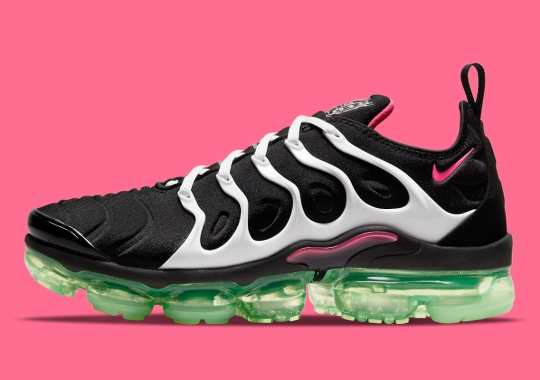 Tropical Pink And Green Lands On The Nike Vapormax Plus