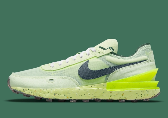 Neon Green Crater Foam Cushions This Nike Waffle One