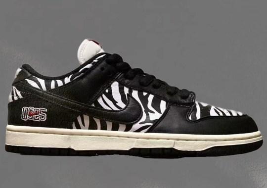 Quartersnacks Brings Zebra Prints To The Nike SB Dunk Low