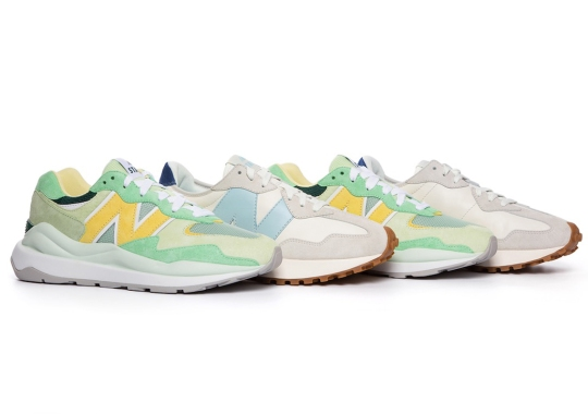 STAUD Charms With Their Sportswear-Inspired New Balance 327 And 57/40