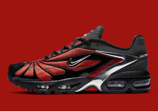 """Where To Buy The Skepta x Nike Air Max Tailwind V """"Bloody Chrome"""""""