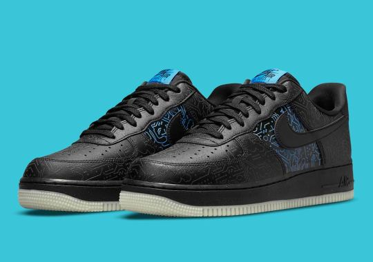 Cybernetic Patterns Etch This Kids-Exclusive Space Jam x Nike Air Force 1