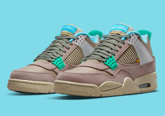 """Official Images Of The Union x Air Jordan 4 """"Taupe Haze"""""""