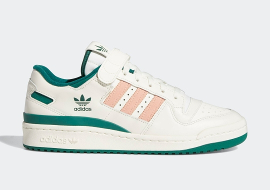 adidas Forum Low Releases In Collegiate Green And Glow Pink