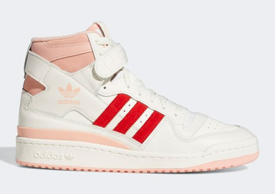 The adidas Forum Hi Just Released In Pink Glow And Vivid Red