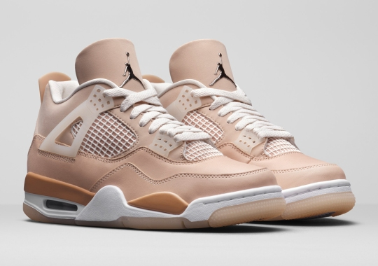 """The Air Jordan 4 """"Shimmer"""" For Women Draws Inspiration From Neutral Makeup Palettes"""