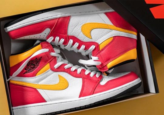 "The Air Jordan 1 Retro High OG ""Light Fusion Red"" Releases Tomorrow"