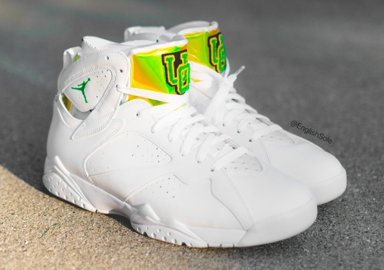 """Only 120 Pairs Of This Air Jordan 7 """"Oregon"""" PE Were Made"""