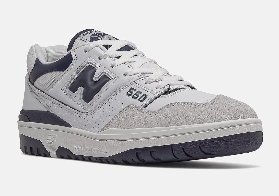 New Balance 550 White/Navy BB550WA1   SneakerNews.com