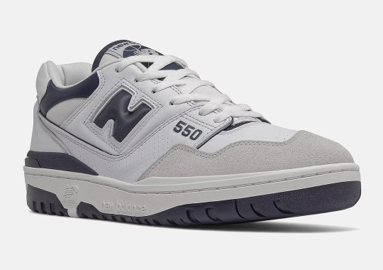 New Balance 550 Gets Navy Blue Accents On June 24th