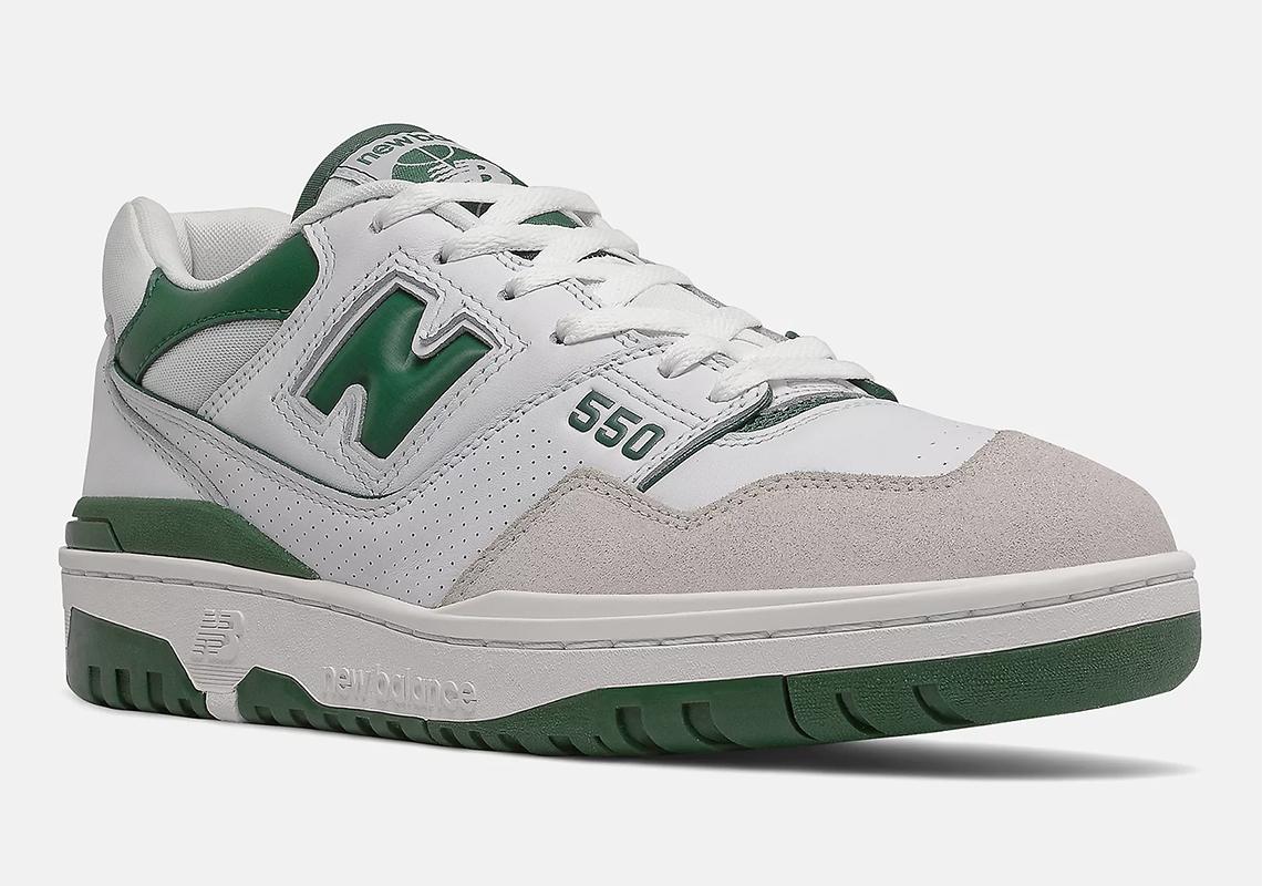 New Balance 550 White Green BB550WT1 Release | SneakerNews.com