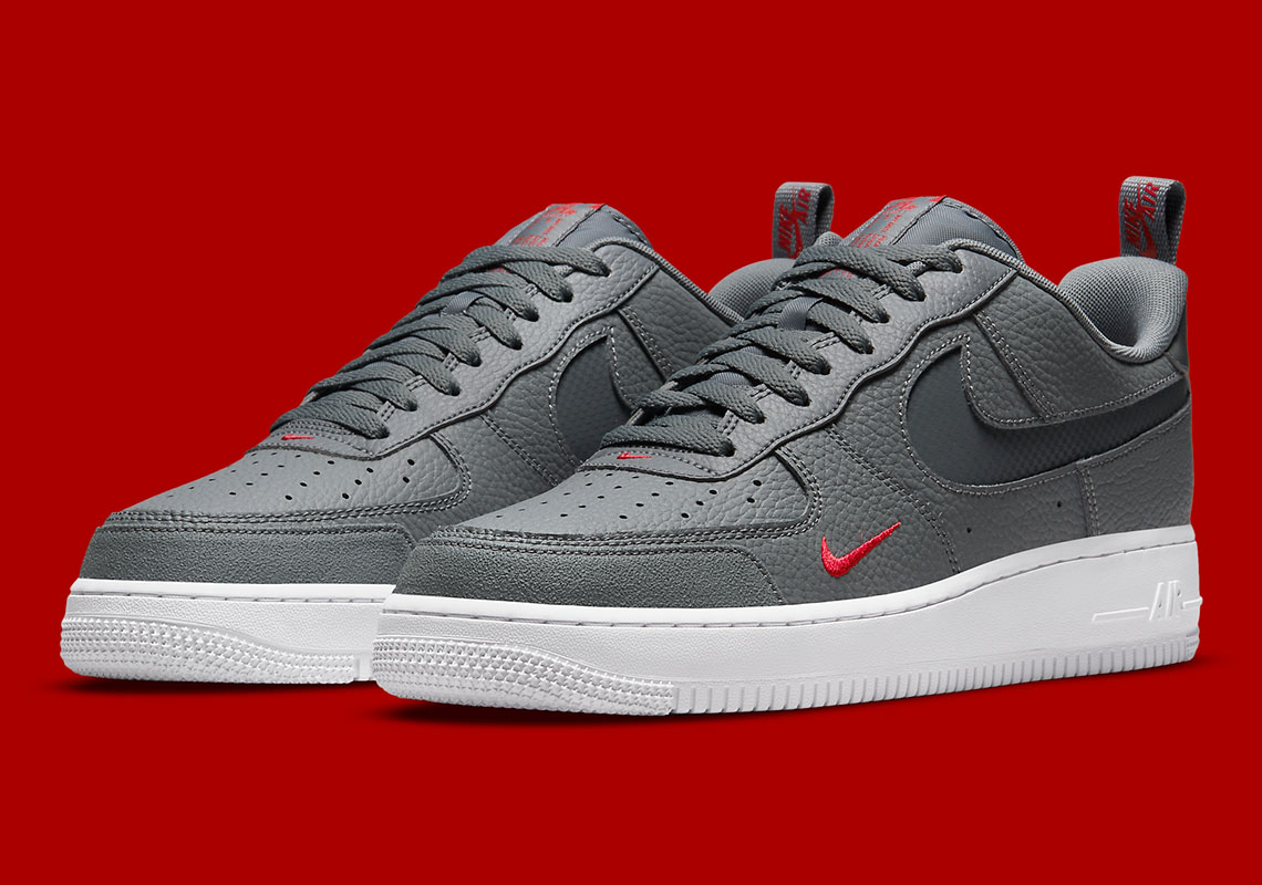Nike Air Force 1 Grey Red White DN4433-001 | SneakerNews.com