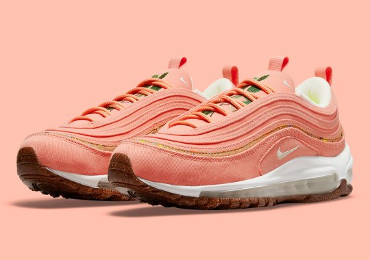 Another Cork-Themed Nike Air Max 97 Has Blossomed In A Light Coral Wash
