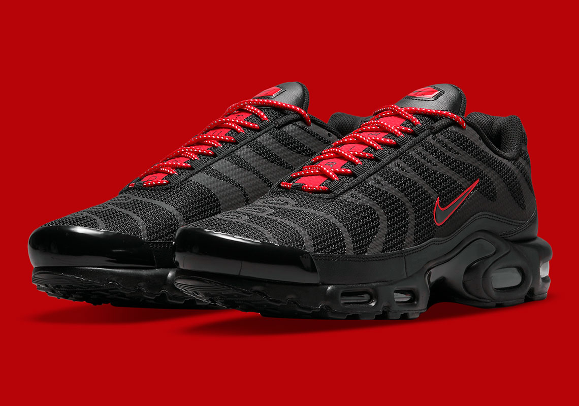 The Nike Air Max Plus Gets Suited In Black Reflective Uppers And ...
