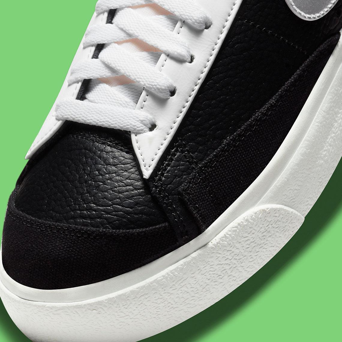 nike blazer low black silver metallic green dn8010 001 4
