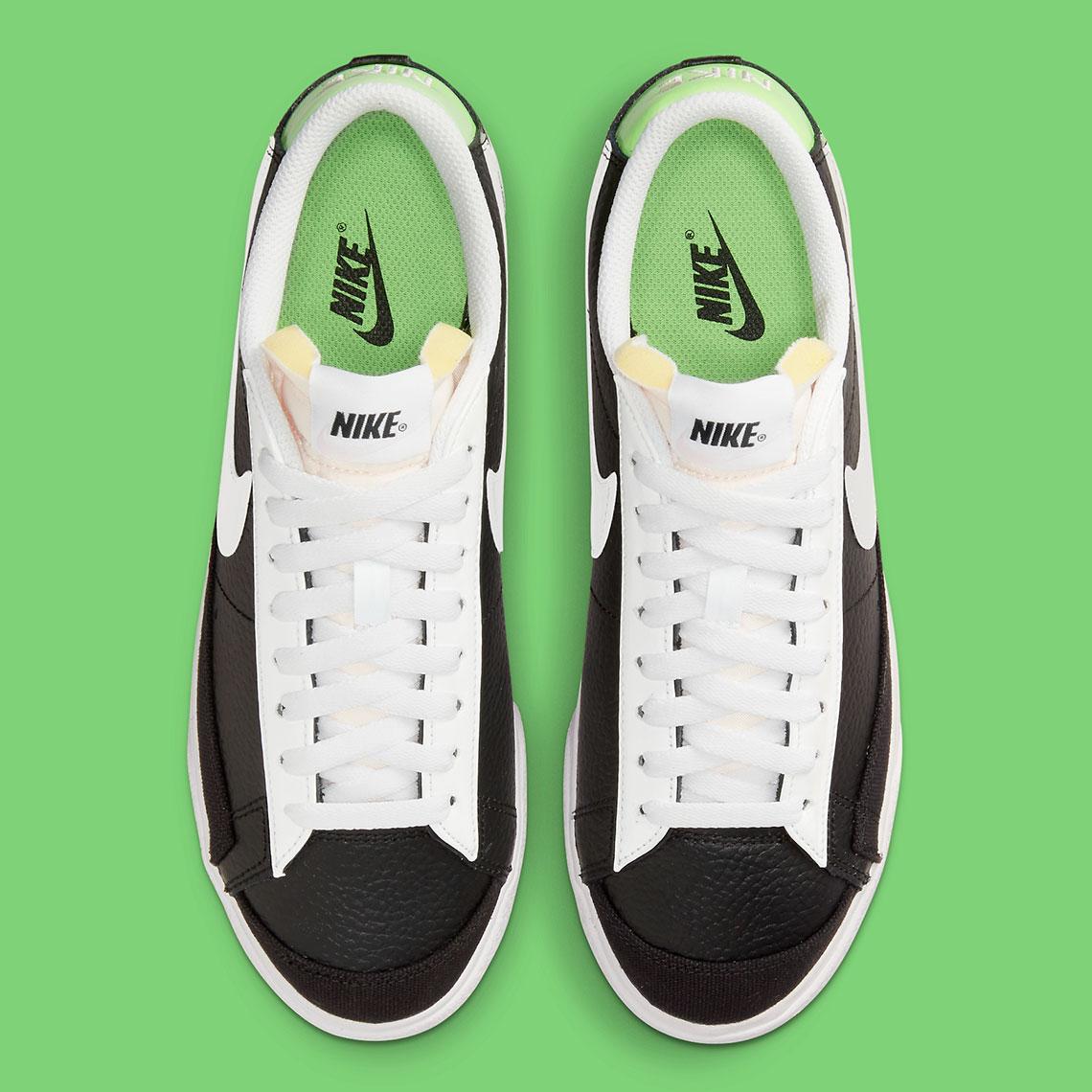 nike blazer low black silver metallic green dn8010 001 7
