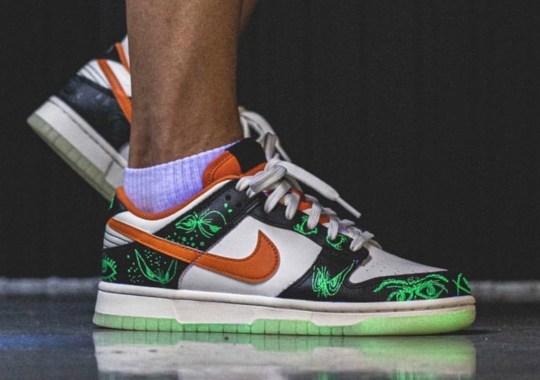 "2021's Nike Dunk Low ""Halloween"" Features Glow-In-The-Dark Soles"