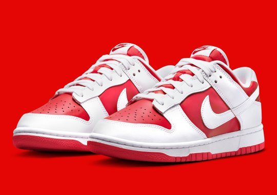 """Official Images Of The Nike Dunk Low """"University Red"""""""