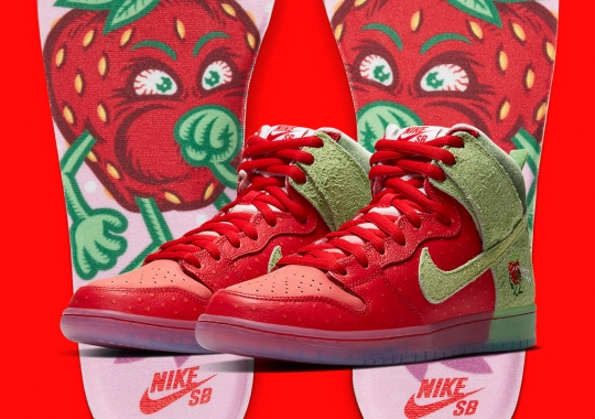 """Official Images Of The Nike SB Dunk High """"Strawberry Cough"""""""