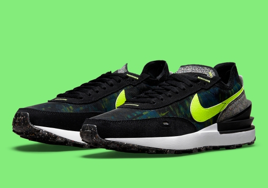 Nike Attaches Recycled Grind Panels To The Waffle One
