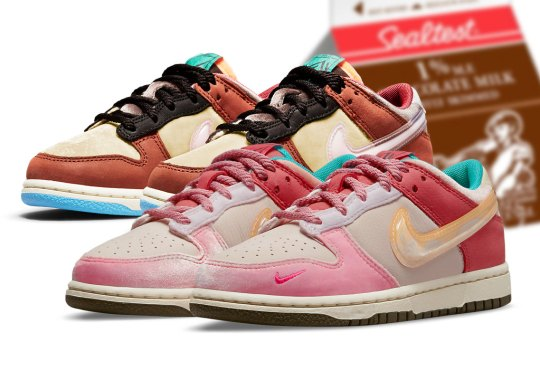 Social Status' Nike Dunk Low Collaboration Inspired By Milk Cartons Given During Summertime Free Lunches