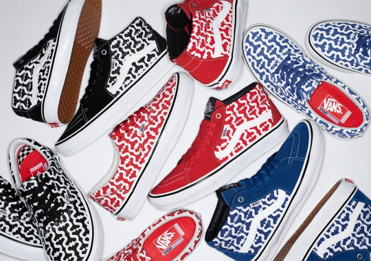 Supreme Brands The Vans Skate Grosso Mid and Skate Era With The Monogram S Pattern