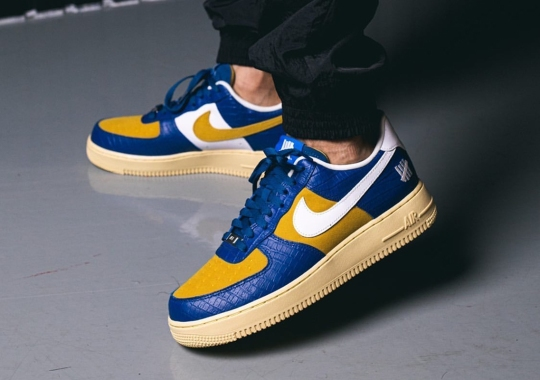 """Undefeated's """"AF1 vs. Dunk"""" Pack Continues With This Croc-skin Nike Air Force 1 Low"""