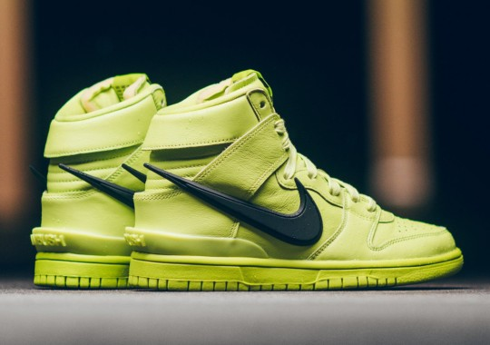 """The AMBUSH x Nike Dunk High """"Atomic Green"""" Releases Tomorrow"""