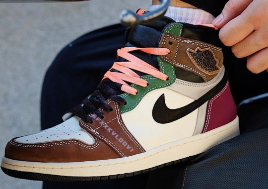 """First Look At The Hand-Crafted Air Jordan 1 Retro High OG """"Archaeo Brown"""""""