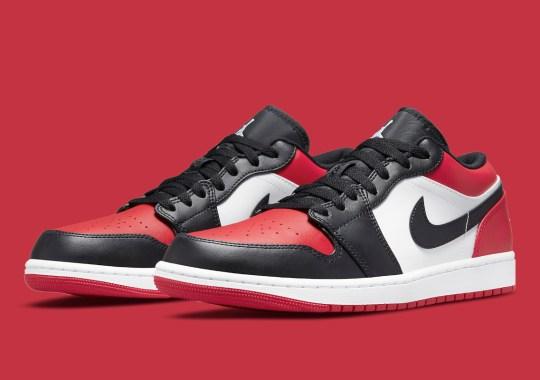 "Official Images Of The Air Jordan 1 Low ""Bred Toe"""