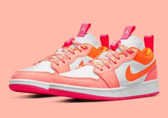 This Air Jordan 1 Low Utility Caters To Kids With A Bright, Floral Colorway