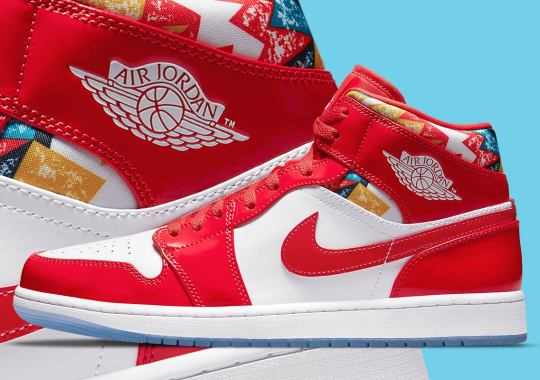 MJ's Barcelona Sweater Print Accents This Upcoming Air Jordan 1 Mid