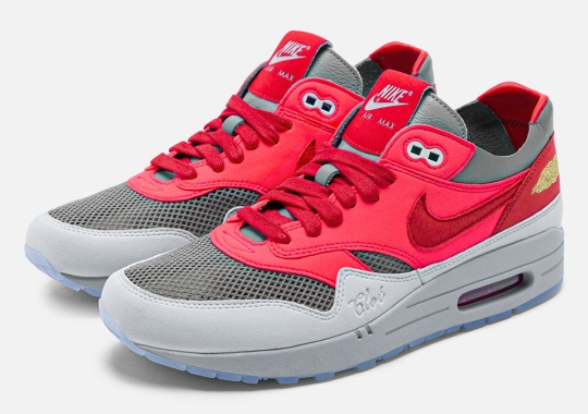 """The CLOT x Nike Air Max 1 """"K.O.D."""" Solar Red, Designed For Kanye West, Is Set For A Return"""