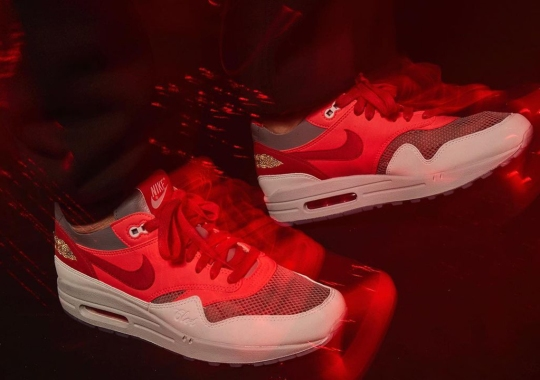 """CLOT Teases A """"Solar Red"""" Rendition Of Their Nike Air Max 1 """"K.O.D."""""""