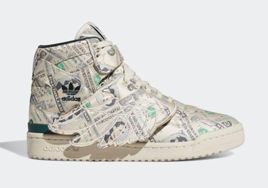 "Jeremy Scott Revisits The adidas Forum Wings 1.0 ""Money"""