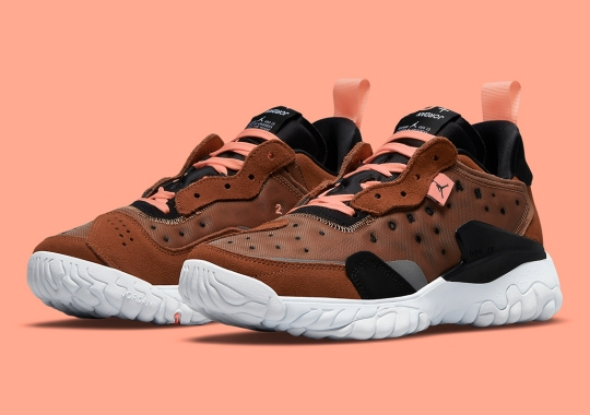 The Jordan Delta 2 Accents This Brown-Dominant Colorway With Pops Of Pink