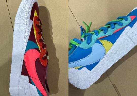 Detailed Look At The KAWS x sacai  x Nike Blazer Low