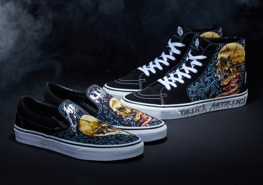 """Metallica And Vans Celebrate The 30th Anniversary Of """"The Black Album"""" With Graphic-Heavy Capsule"""