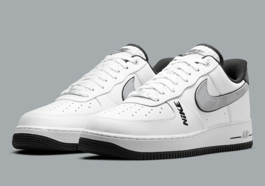 """This """"White/Black"""" Nike Air Force 1 Low Introduces New Branding Accents"""