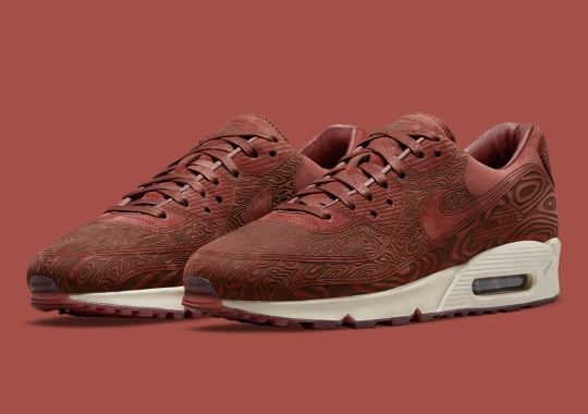 """The Nike Air Max 90 """"Laser"""" Returns In A Mahogany-Dressed Colorway"""