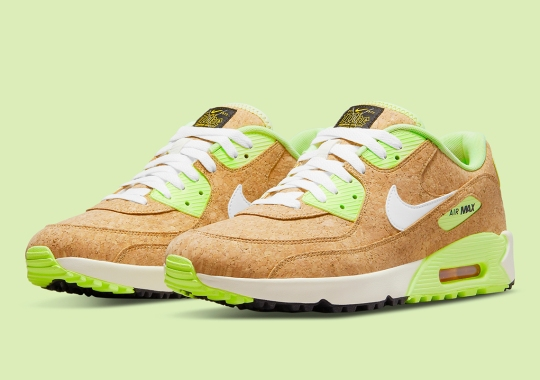 Nike Constructs Their Latest Air Max 90 Golf Entirely Out Of Cork