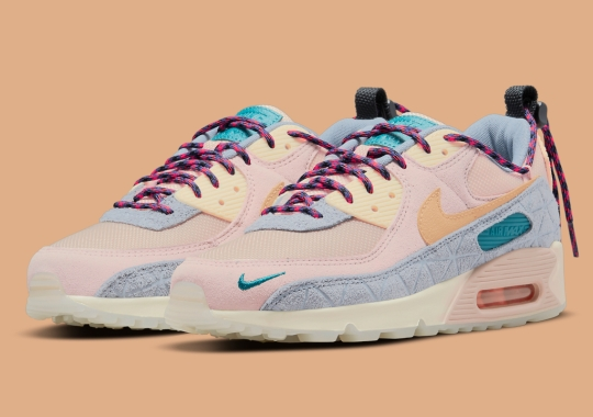 """Another Hiking-Inspired Women's Nike Air Max 90 Appears In """"Fossil Stone"""""""