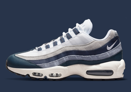 This Navy And Grey Nike Air Max 95 Will Make Yankees Fans Crazy