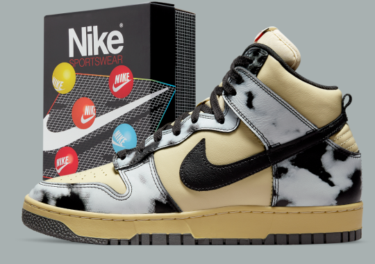 """Official Images Of The Nike Dunk High 1985 """"Acid Wash"""" In Grey"""