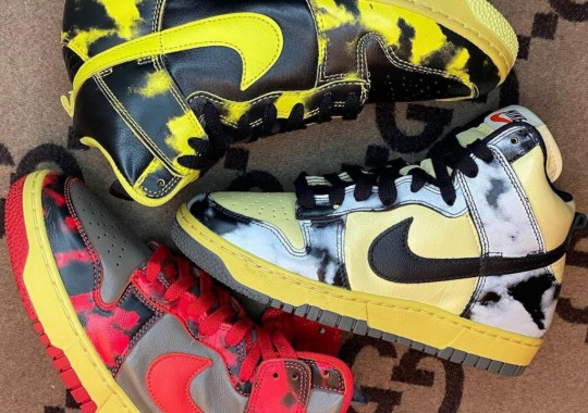 """A Nike Dunk High """"Acid Wash"""" Trio Is On The Way"""