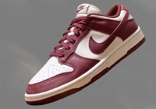 """The Nike Dunk Low Jumps On The """"Bordeaux"""" Bandwagon"""