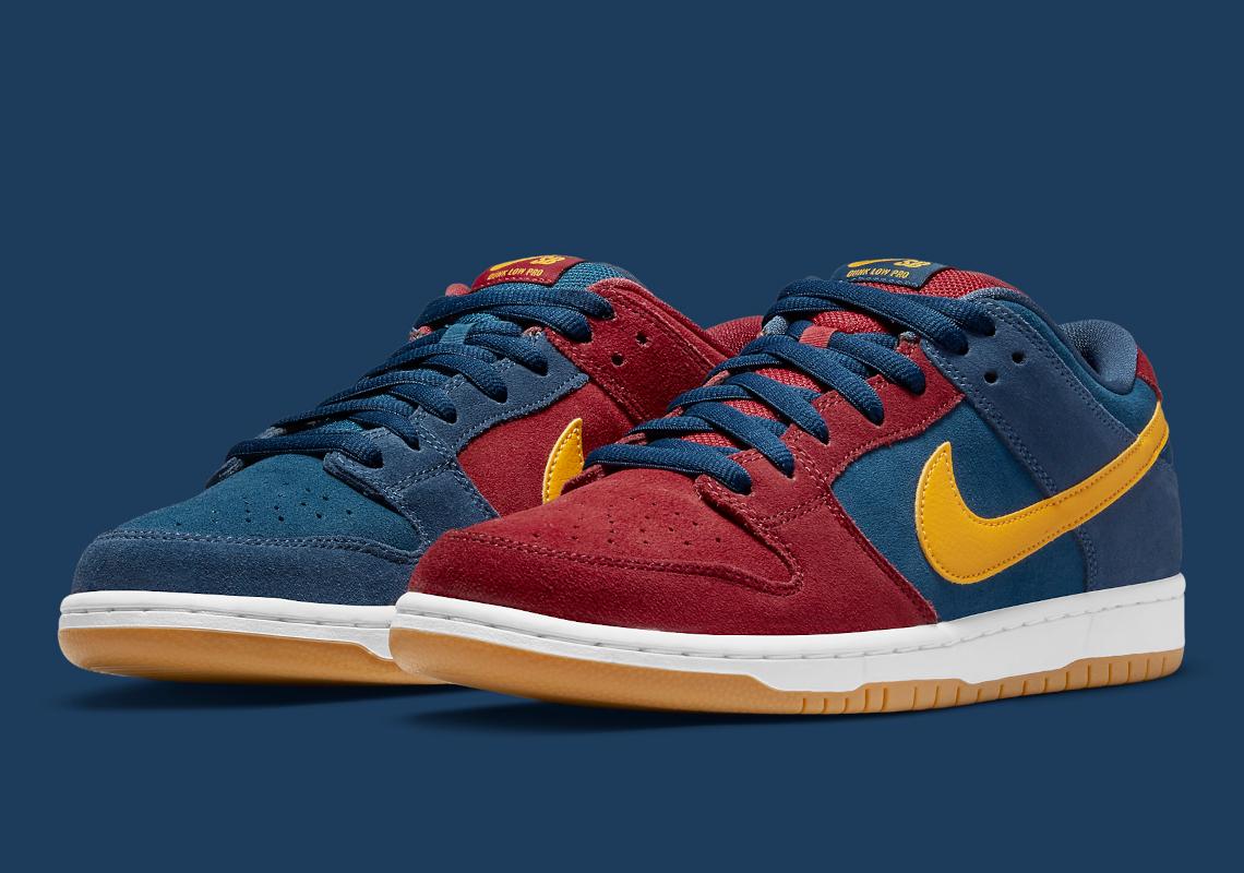 Nike SB Dunk Low Catalonia DJ0606-400 Barcelona | SneakerNews.com