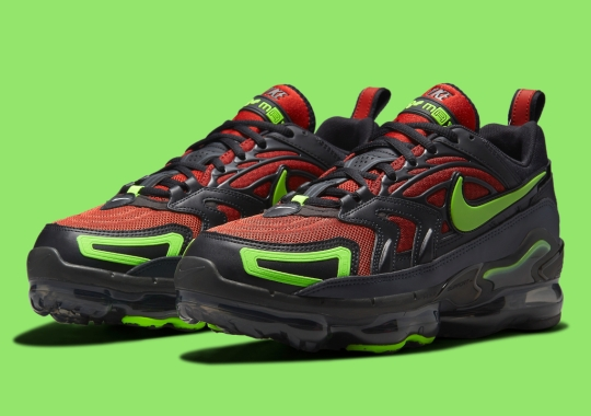 """This Nike Vapormax Evo Merges """"Redstone"""" And """"Electric Green"""""""