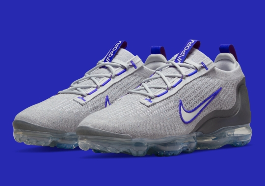 The Nike VaporMax FlyKnit 2021 Gets Animated With Bold Blue Accents