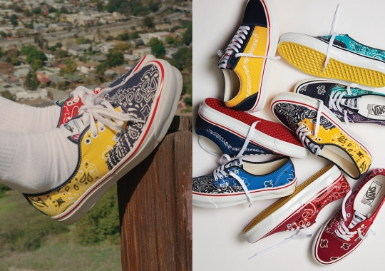 BEDWIN & THE HEARTBREAKERS Remakes The Vans Authentic LX And Old Skool LX With USA-Made Bandanas